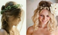 The latest trend in brides hairstyles